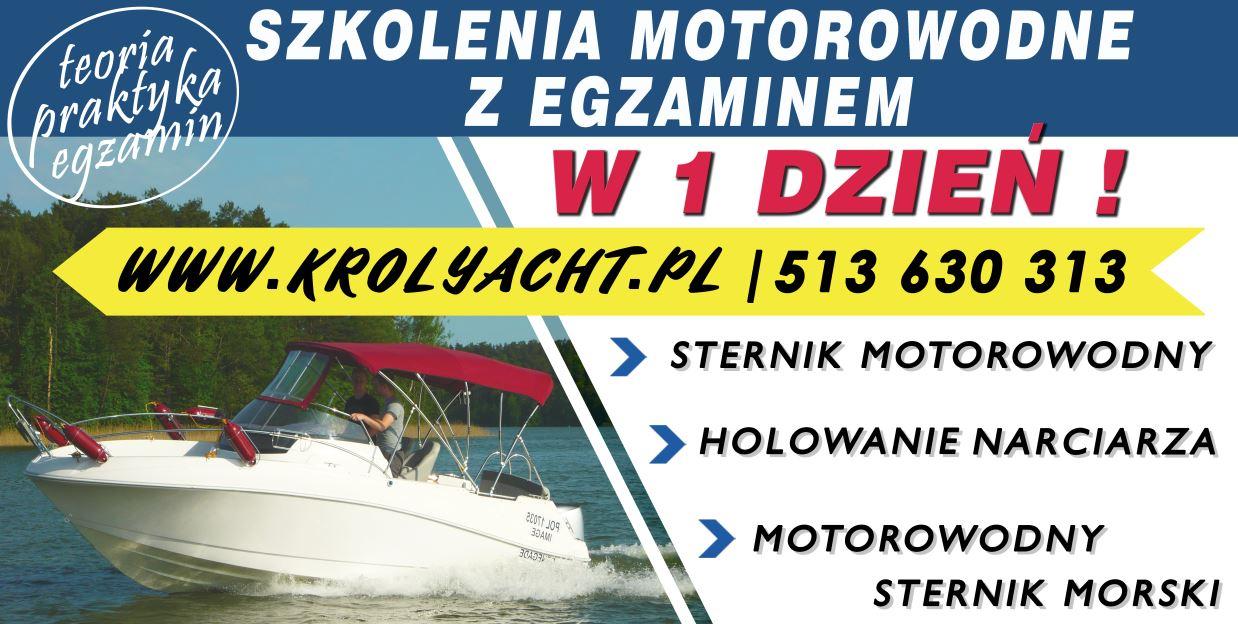 Kurs, szkolenie na patent STERNIK motorowodny z egzaminem w 1 dzien