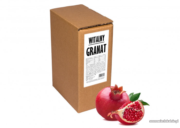 GRANAT 100% sok z granatu naturalny tłoczony na zimno dla zdrowia